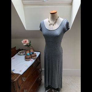 Gap size Small grey t-shirt high low dress
